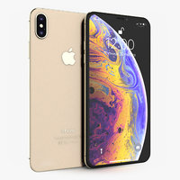 apple iphone xs gold 3D