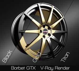 borbet gtx rim 3D model