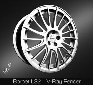 borbet ls2 rim 3D model