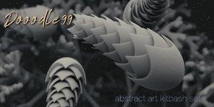 3D abstract art kitbash
