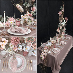 wedding table setting 3D model