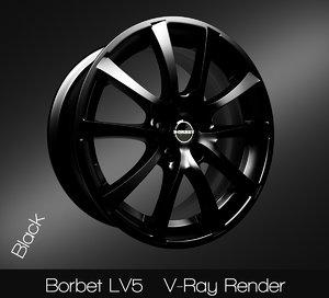 3D borbet lv5 rim model
