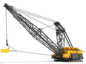 dragline excavator 3D model