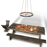 medieval dish assets interior 3D model