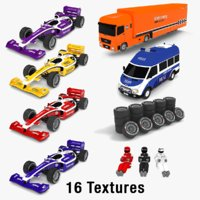 race car pack 3D