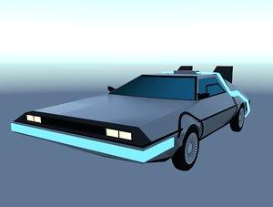 delorean dlm future 3D model