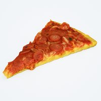 3D pizza slice