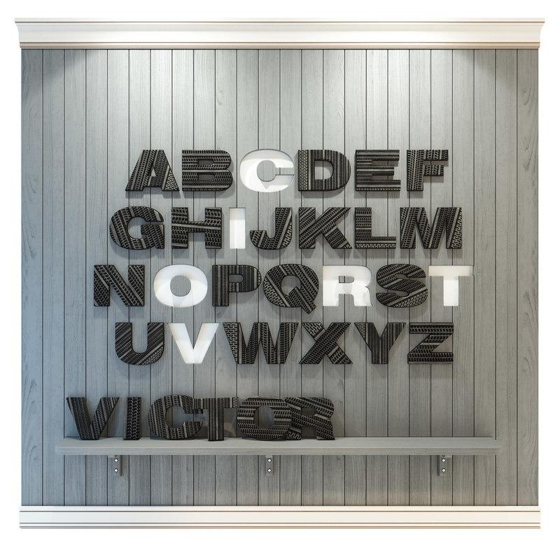 3D wooden panel letter