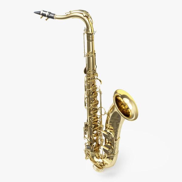 saxophone tenor selmer 3D