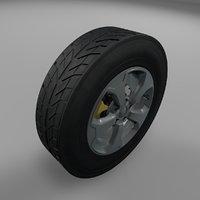3D jeep renegade wheel tire