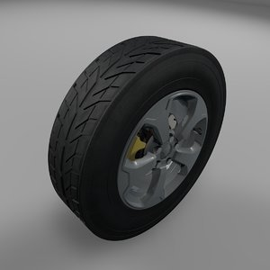 3D jeep renegade wheel tire