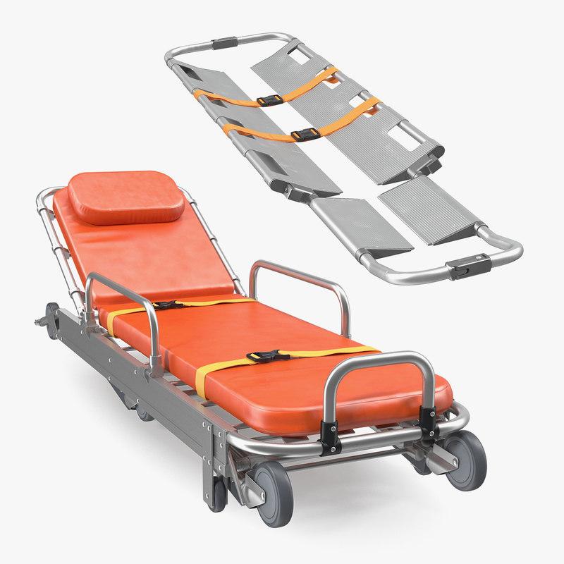 3D ambulance stretchers