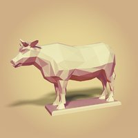 3D model bull cartoon