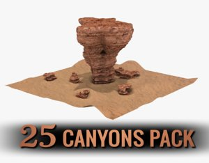 pack canyon 3D model