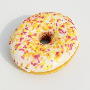 donut pastry dessert 3D model