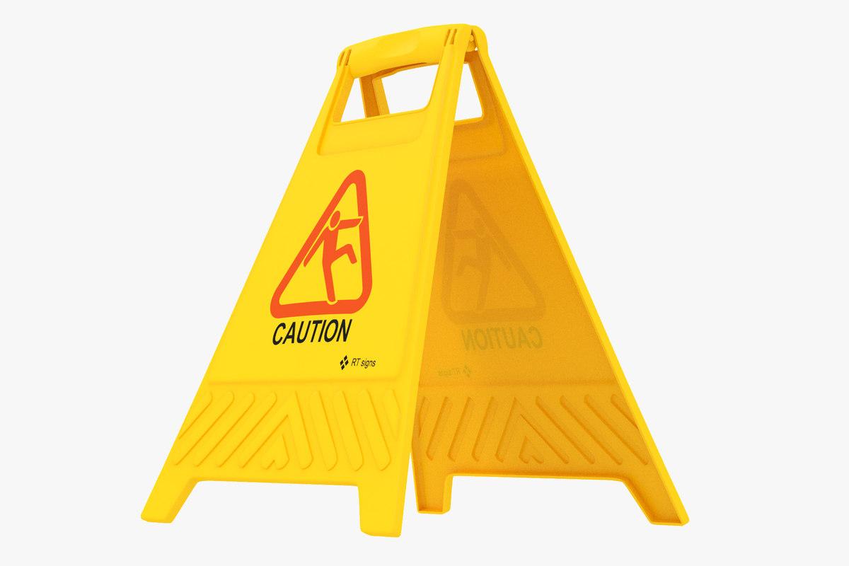 plastic floor sign caution model