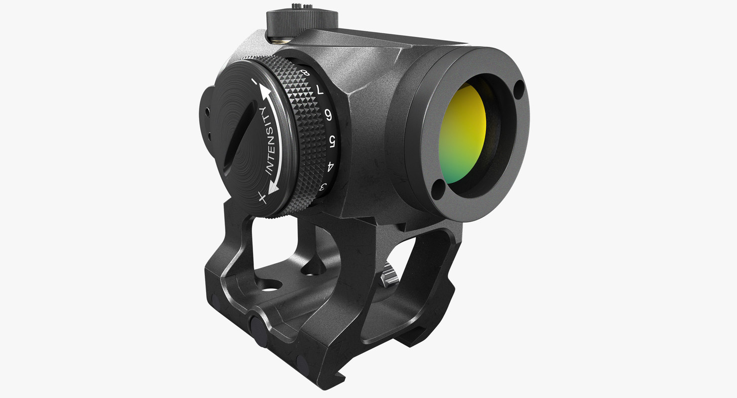 3D model aimpoint micro scope