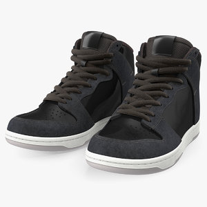 black skateboarding shoes skate 3D model
