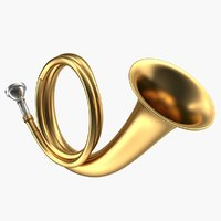 3D copper hunting horn