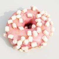 3D model donut dessert pastry