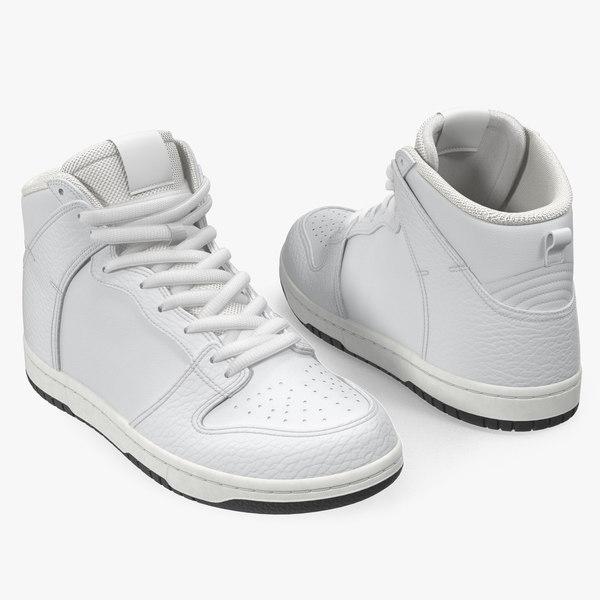 skateboard shoes white skate 3D model