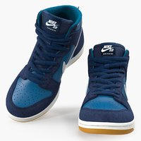 Skateboarding Shoe Nike SB Dunk High Pro Blue