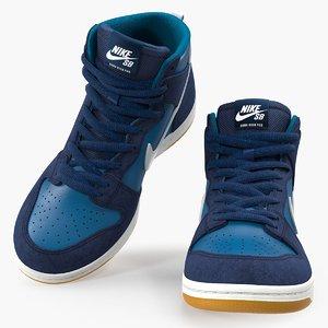 skateboarding shoe nike sb model