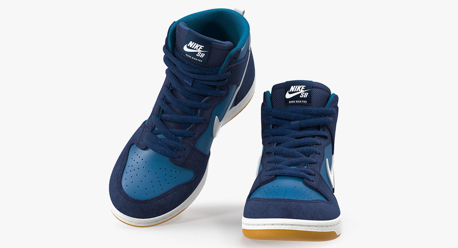 High Sb Chaussure Nike De Dunk Bleu Skateboard Pro Ib7fgvY6y