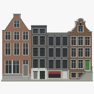houses set 3D model