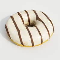 donut food dessert 3D model