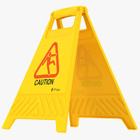 plastic floor sign caution model