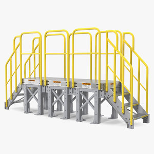 3D industrial stairs model