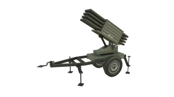 3D model ndl-40 rocket launcher
