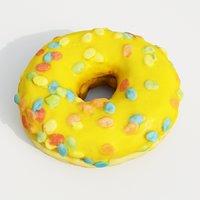 3D model donut pastry dessert