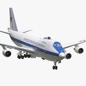 boeing e4b nightwatch plane 3D