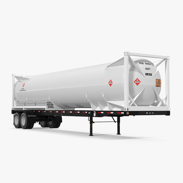 3D lng semi trailer gas tank