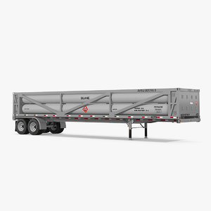 3D model lng transport trailer
