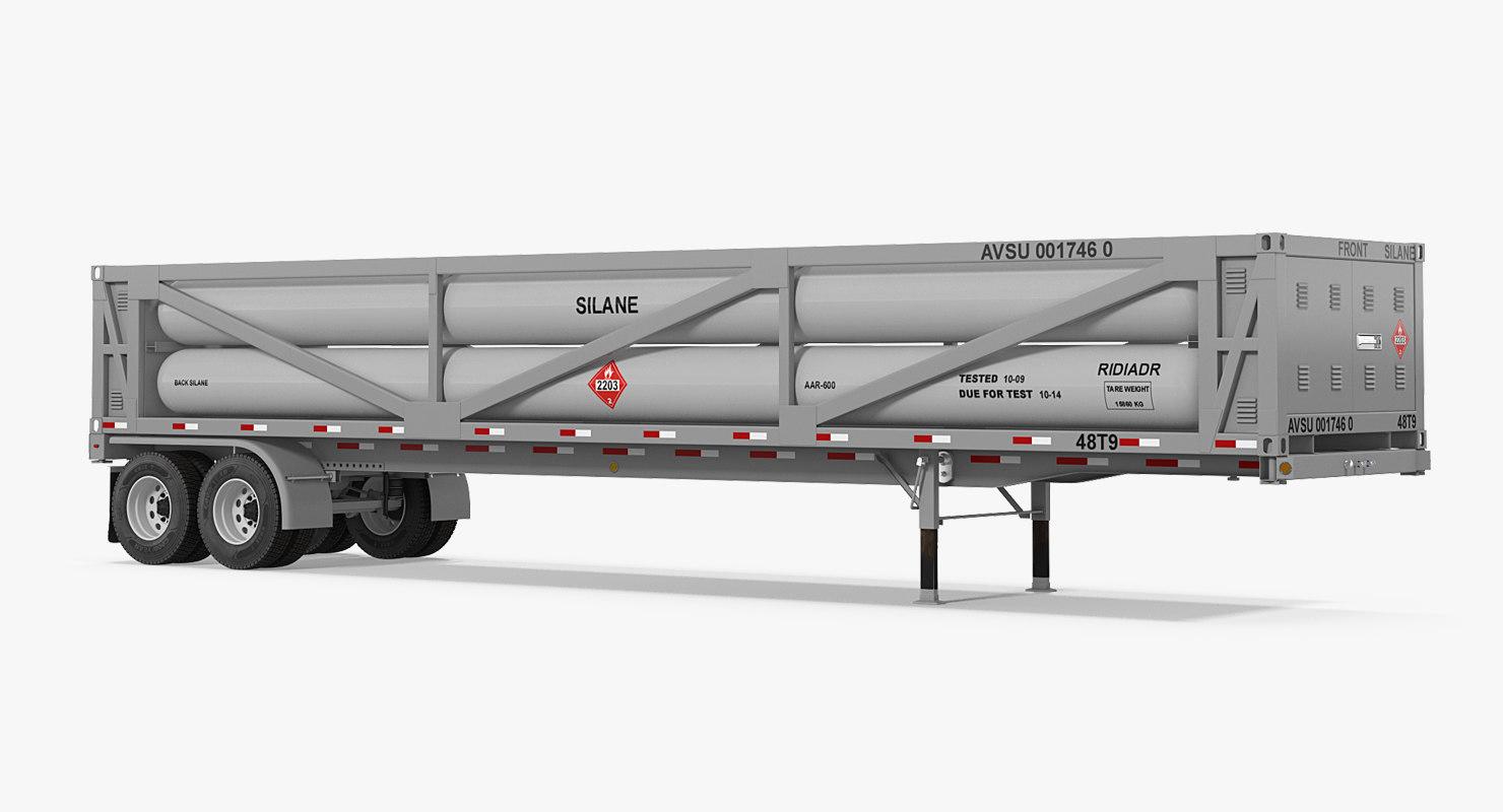 3D model lng transport trailer