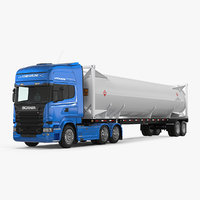 3D scania truck liquid natural model