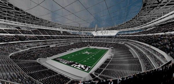 dome stadium 3D model
