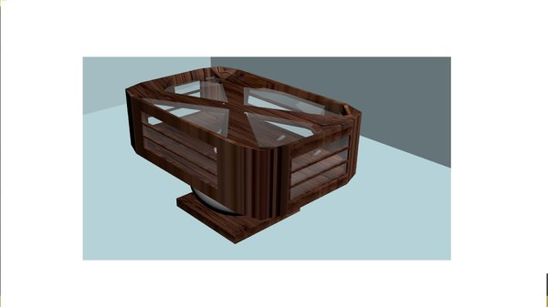 aquarium table 3D