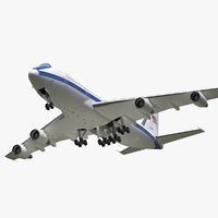 3D boeing e4b nightwatch military aircraft