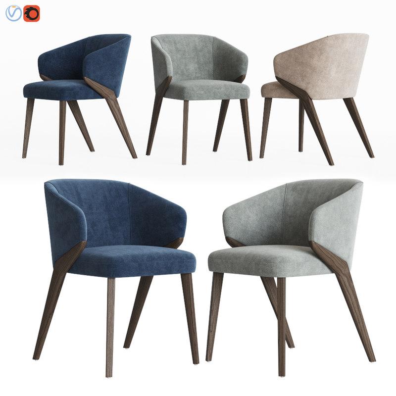 3D bross nora dining chair