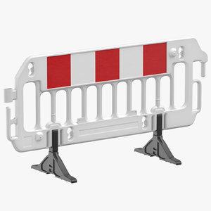 construction barrier 01 white 3D model