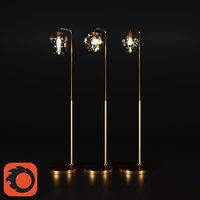 Sculptural Glass Floor Lamp