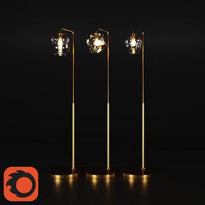 sculptural glass floor lamp model