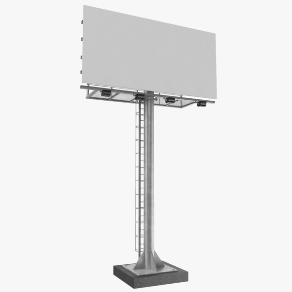 real billboard 3D model