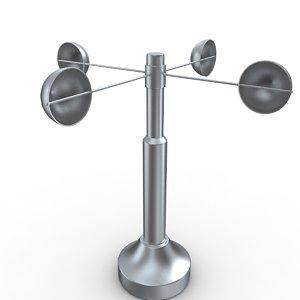 3D anemometer design model