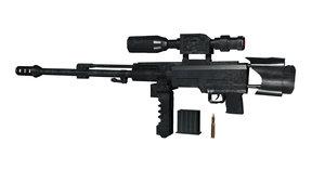 3D rigged sniper gun