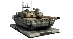 3D challenger 2 mbt model
